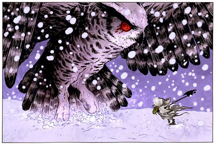Mice vs. an owl. Click for full size.