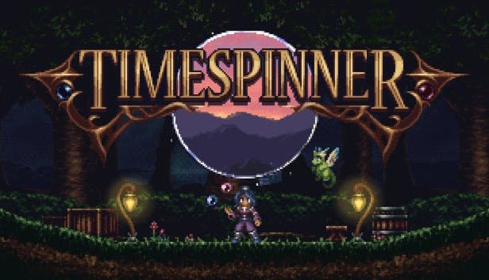 Timespinner title screen. Click for full size.