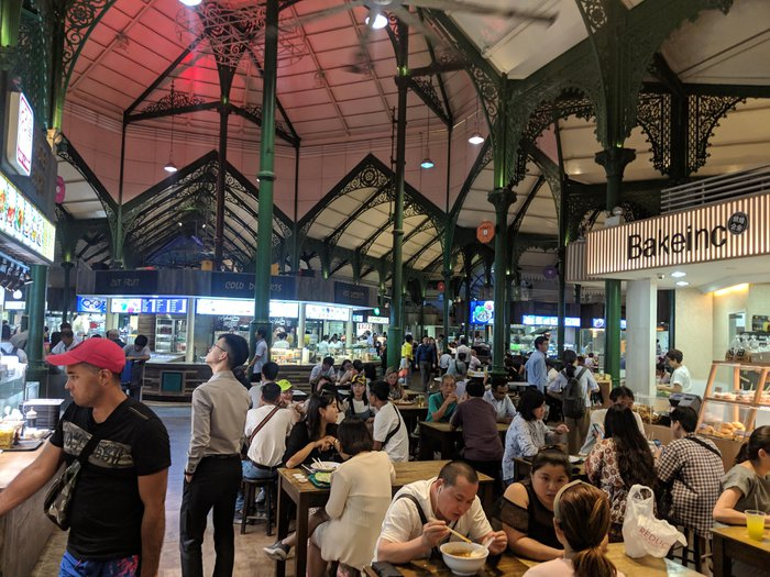 A reasonably busy Hawker Center. Click for full-size image.