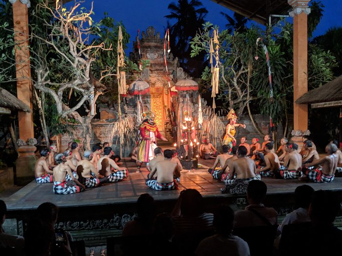 Dance performance with fire at the Ubud Palace. Click for full-size image.