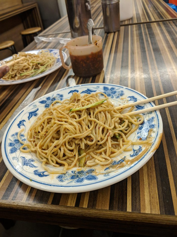 Cheap sesame noodles. Click for full-size image.